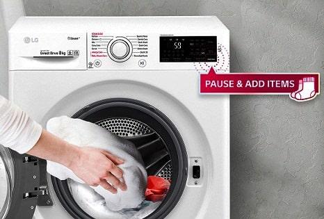 Add item در ماشین لباسشویی ال جی