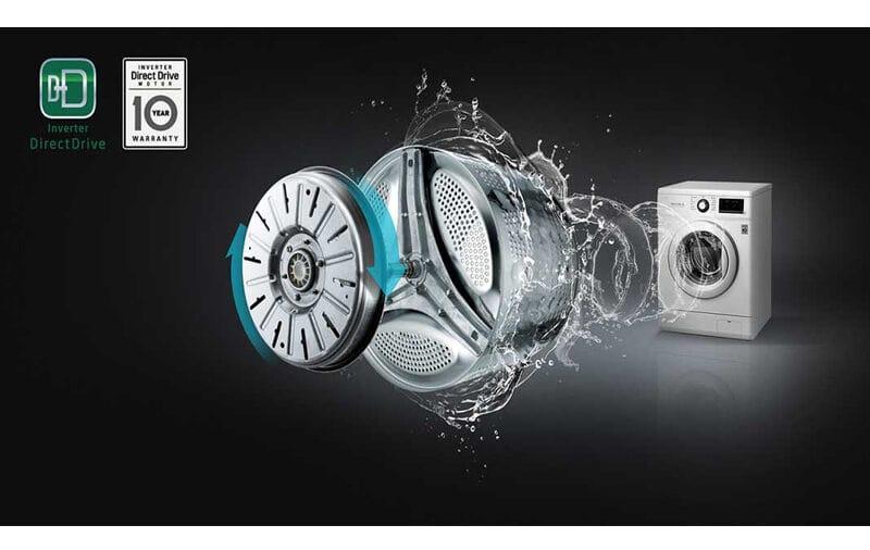 موتور بدون تسمه LG مدل دایرکت درایو و بیصدا