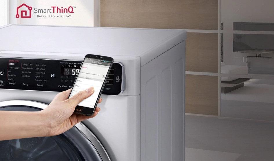 مدیریت هوشمند ماشین لباسشویی 8 کیلویی ال جی