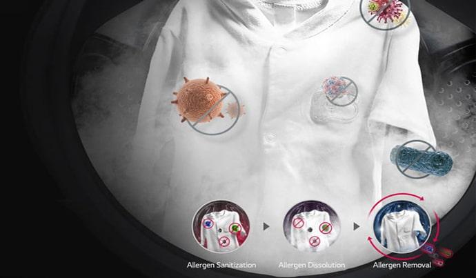 ماشین لباسشویی ال جی ۹کیلویی بخارشوی V5